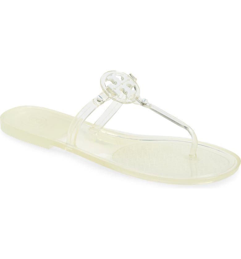 TORY BURCH Mini Miller Jelly Thong Sandal, Main, color, CLEAR