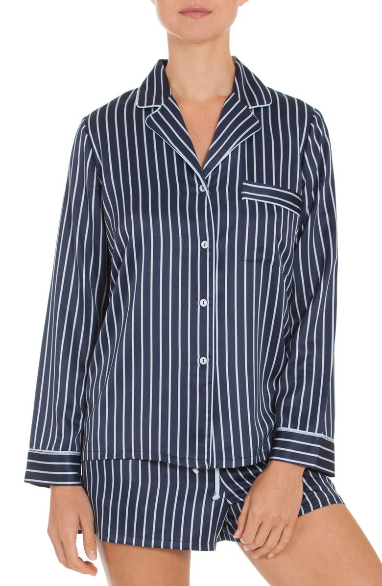 IN BLOOM BY JONQUIL Short Pajamas, Main, color, NAVY STRIPE