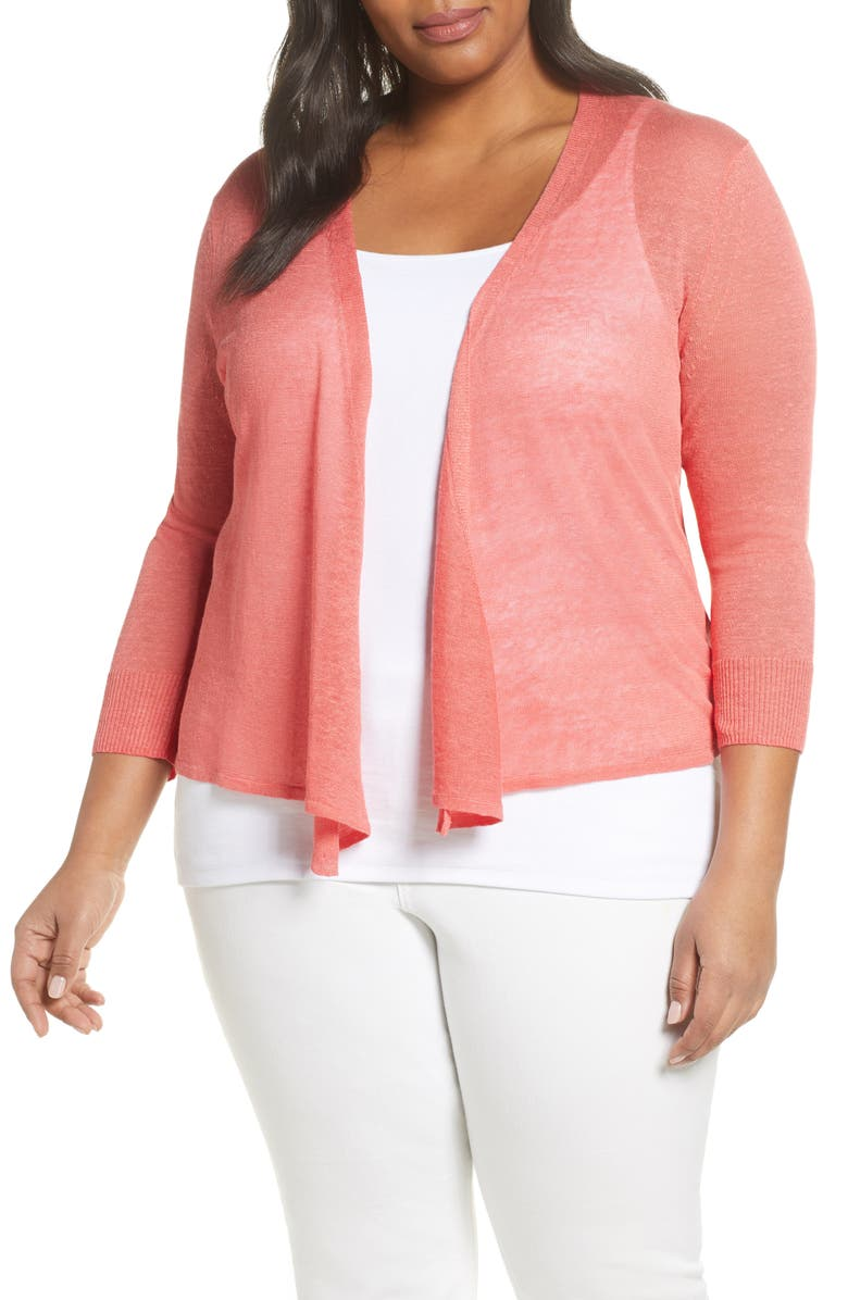 NIC+ZOE 4-Way Lightweight Cardigan, Main, color, SEDONA