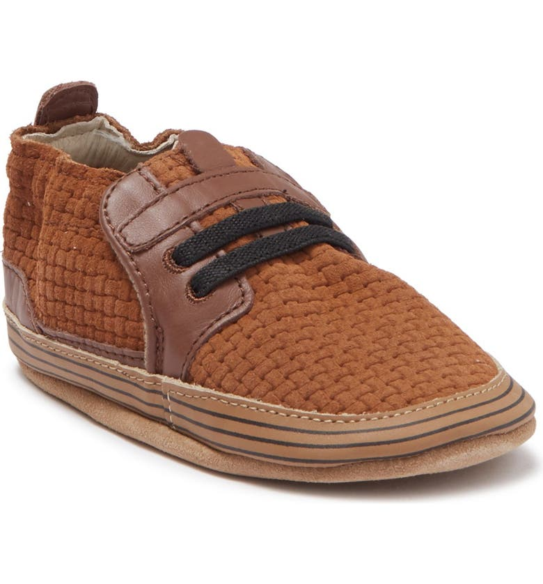 ROBEEZ Jude Woven Leather Sneaker, Main, color, BROWN