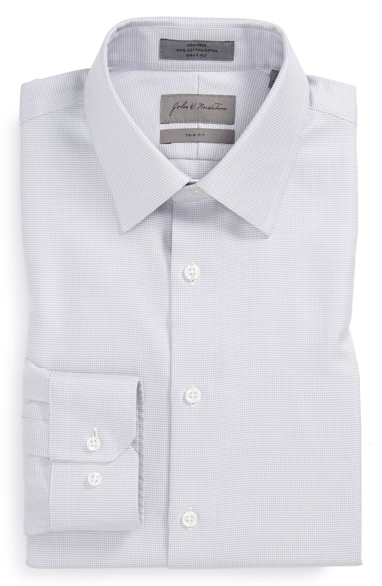 JOHN W. NORDSTROM<SUP>®</SUP> Trim Fit Non-Iron Houndstooth Dress Shirt, Main, color, 050