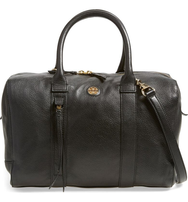 TORY BURCH 'Brody' Leather Satchel, Main, color, 001