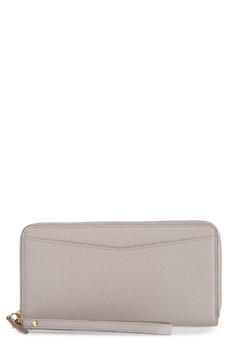 NORDSTROM Zip Around Leather Continental Wallet, Main, color, 051