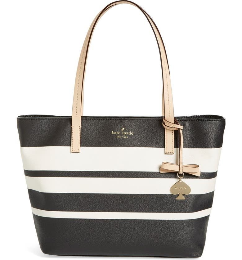 KATE SPADE NEW YORK 'hawthorne lane - small ryan' coated canvas tote, Main, color, 001
