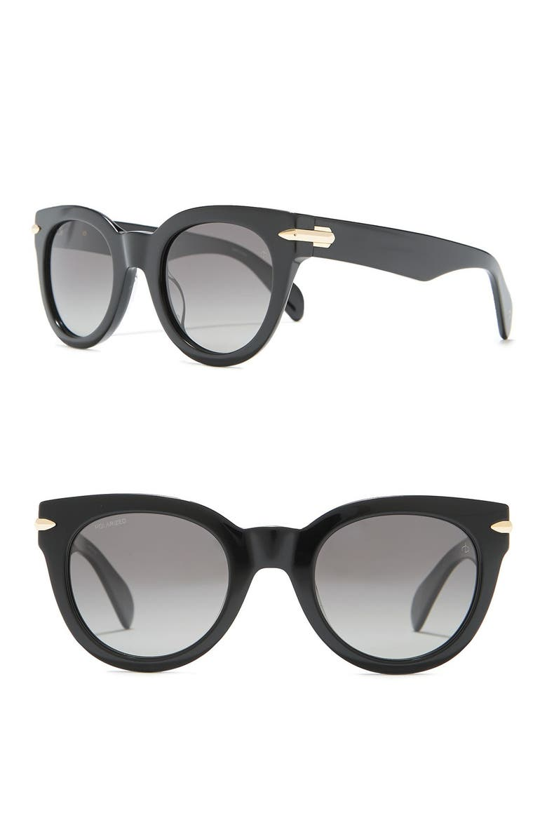 RAG & BONE Core 50mm Cat Eye Sunglasses, Main, color, 001