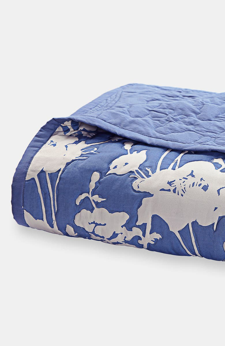 KATE SPADE NEW YORK 'floral' quilt, Main, color, COLONY BLUE