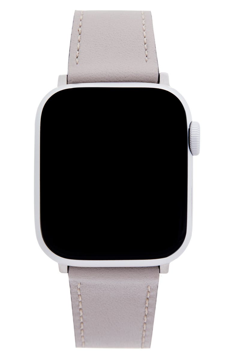 REBECCA MINKOFF Leather Apple Watch<sup>®</sup> Strap, Main, color, 030