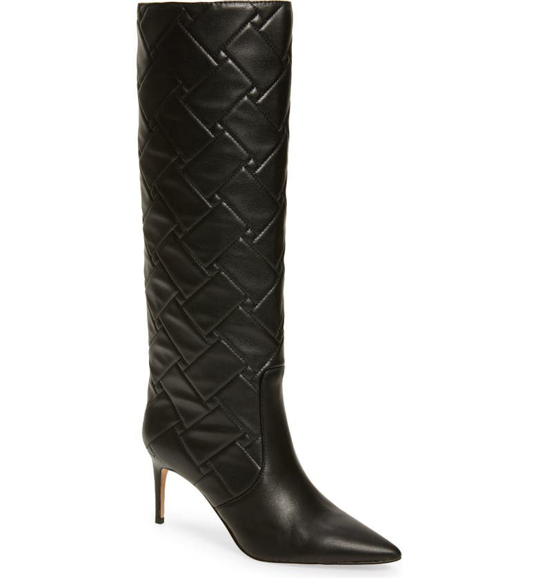 KURT GEIGER LONDON Bickley Quilted Tall Boot, Main, color, BLACK