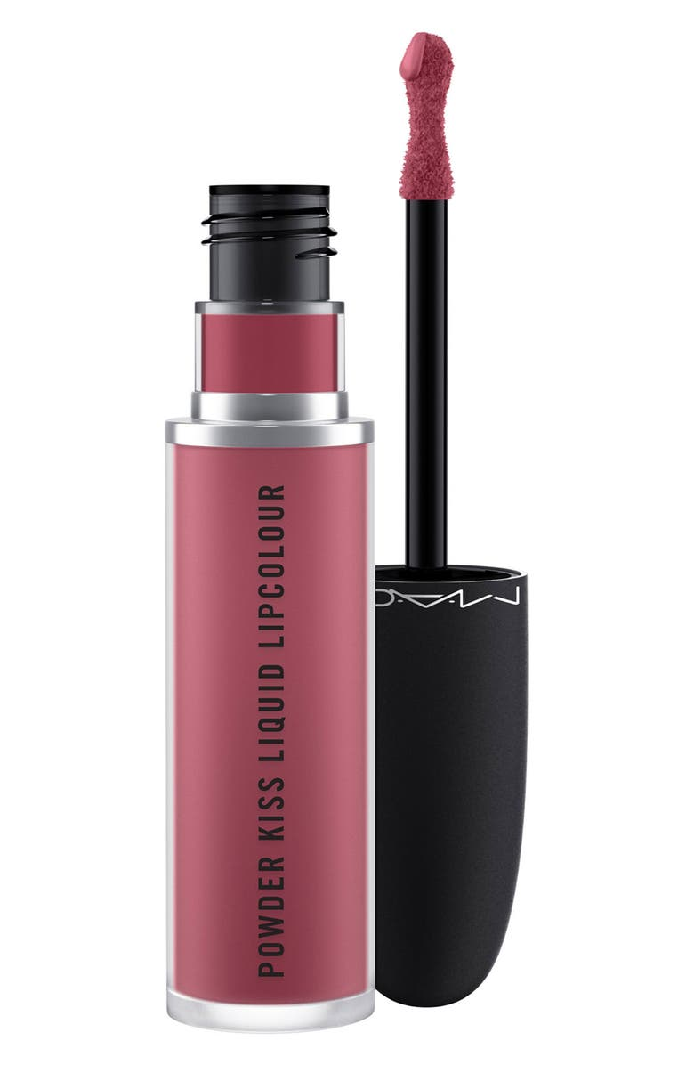 MAC COSMETICS MAC Powder Kiss Liquid Lipcolour, Main, color, MORE THE MEHR-IER