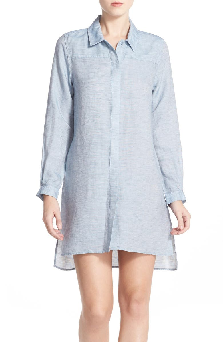 FRENCH CONNECTION Chambray Shirtdress, Main, color, 451