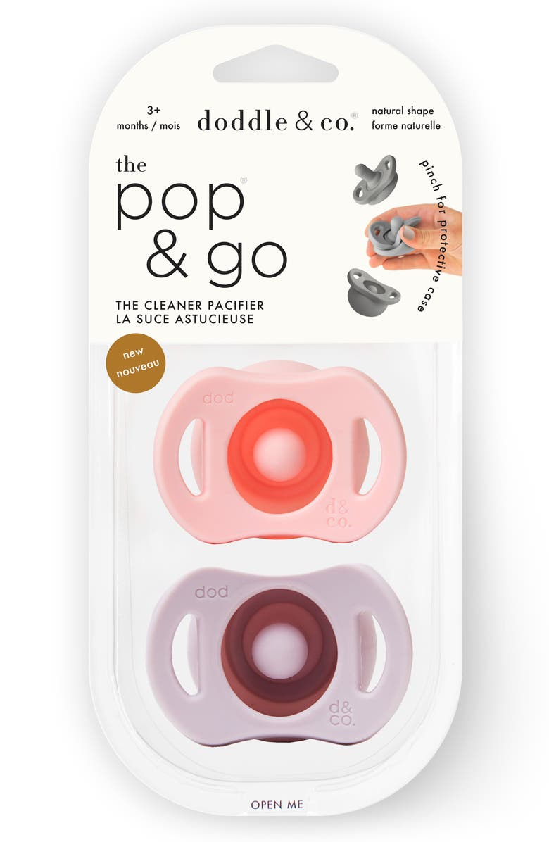 DODDLE & CO 2-Pack The Pop & Go Pacifiers, Main, color, 650