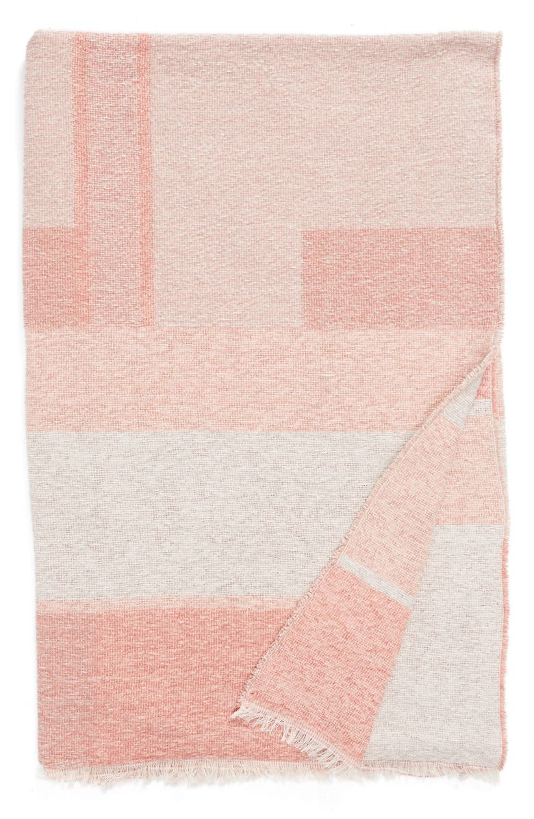 NORDSTROM at Home Geo Throw Blanket, Main, color, PINK MISTY MULTI