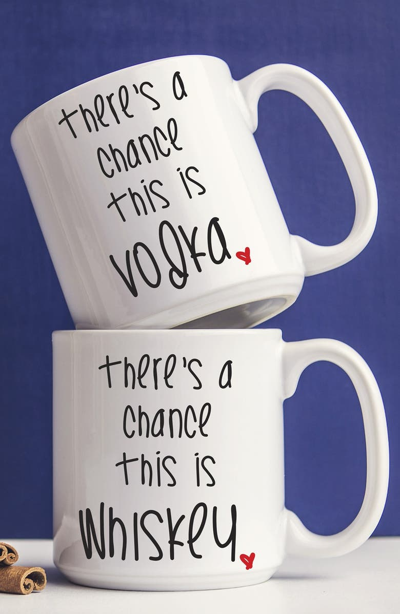 CATHY'S CONCEPTS 'There's a Chance' Ceramic Coffee Mugs, Main, color, 100