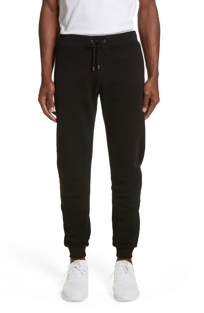 VERSACE COLLECTION Medusa Embroidered Jogger Pants, Main, color, 001