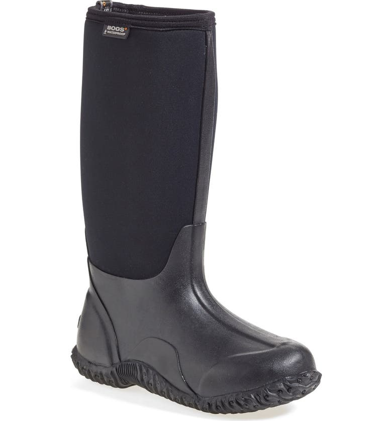 BOGS 'Classic' High Waterproof Snow Boot, Main, color, BLACK