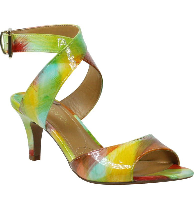 J. RENEÉ 'Soncino' Ankle Strap Sandal, Main, color, BRIGHT MULTI PRINT LEATHER
