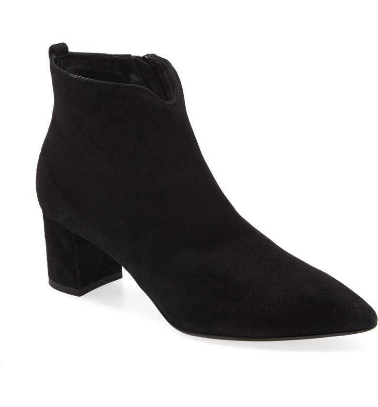 AGL Notch Bootie, Main, color, BLACK SUEDE