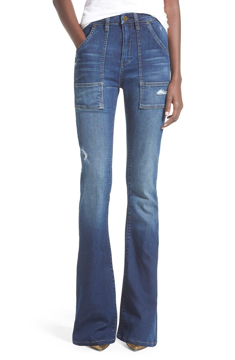 BLANKNYC 'Hotel' Flare Jeans, Main, color, 400