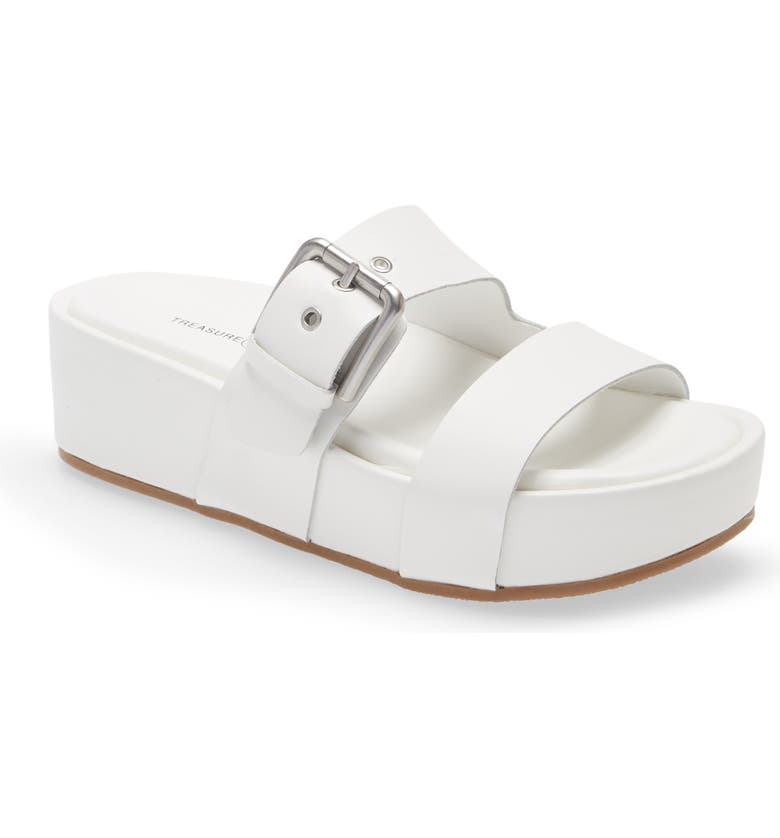 TREASURE & BOND Colt Platform Slide Sandal, Main, color, WHITE