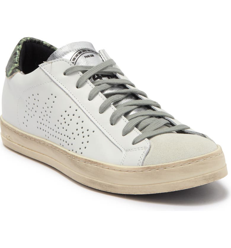 P448 John Perforated Logo Low Top Sneaker, Main, color, WHIEGY
