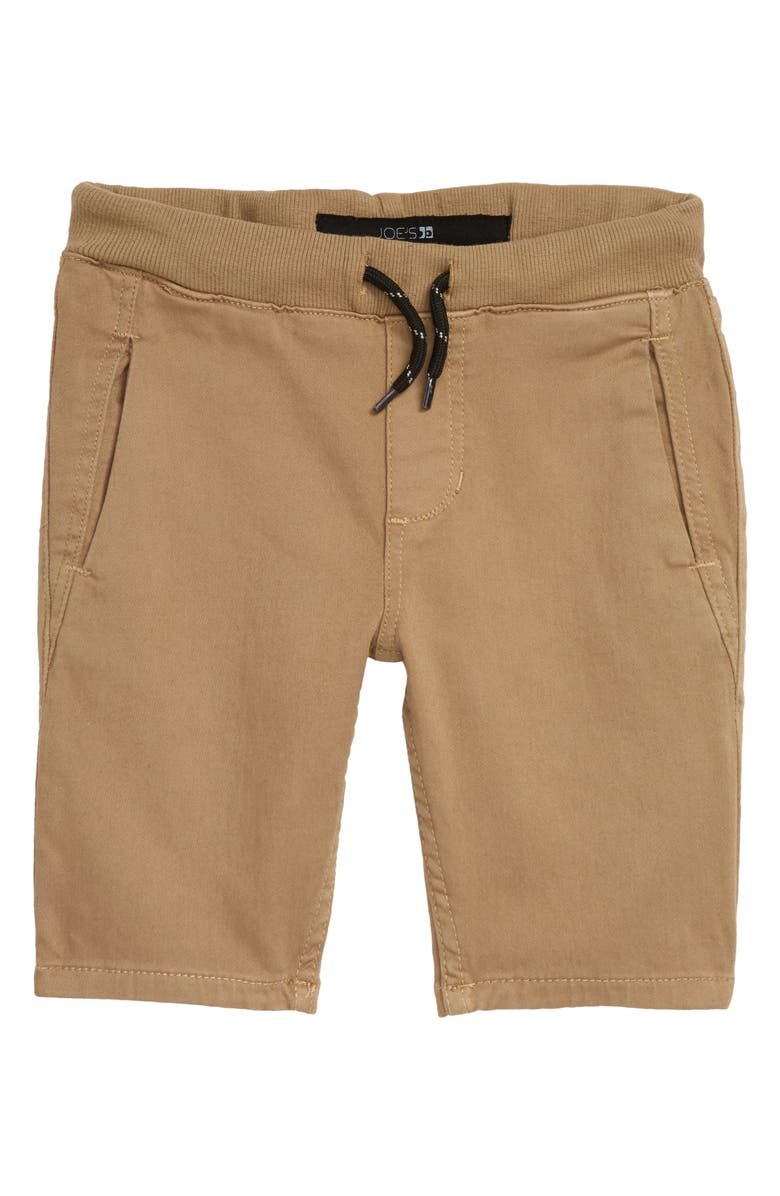 JOE'S Kids' Knit Denim Shorts, Main, color, KHAKI