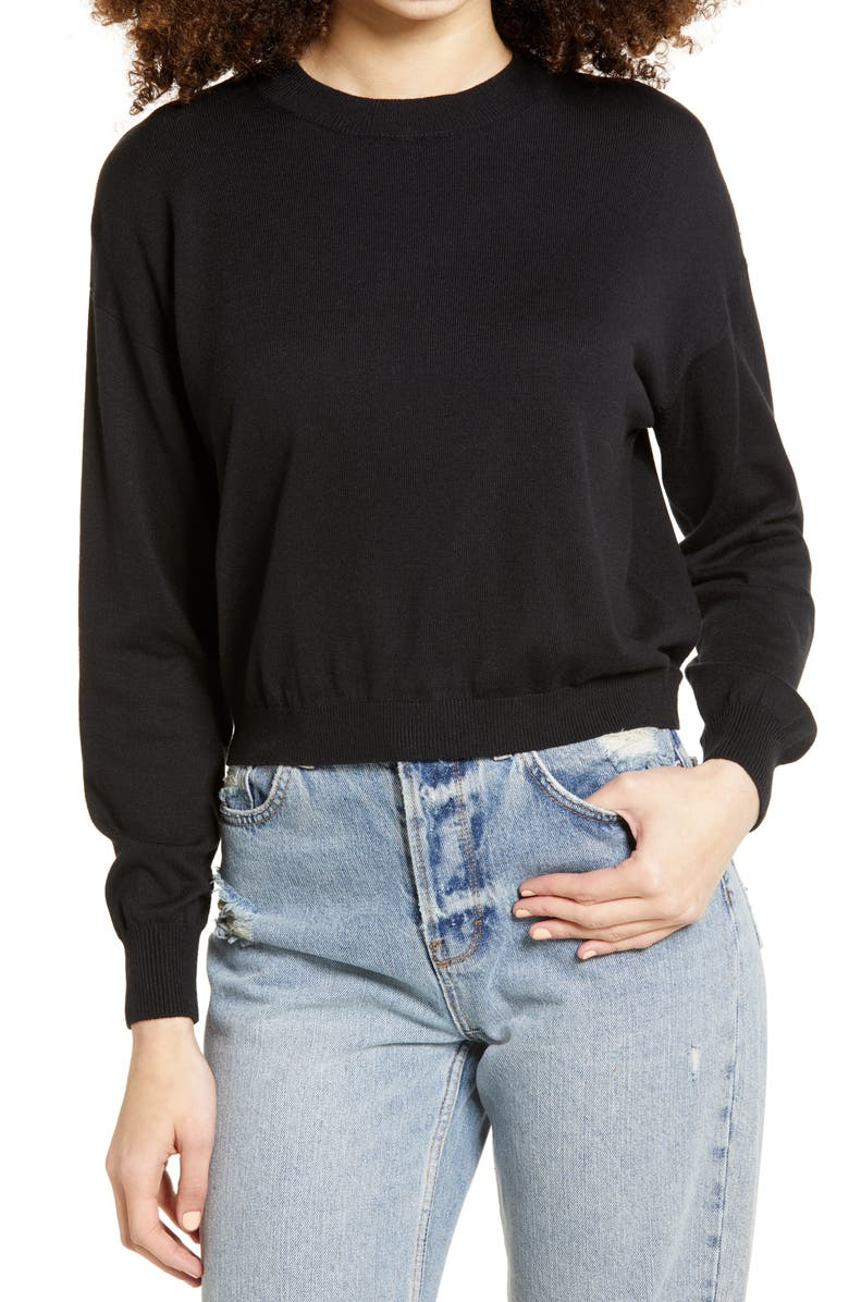 BP. Easy Drop Shoulder Sweater, Main, color, 001