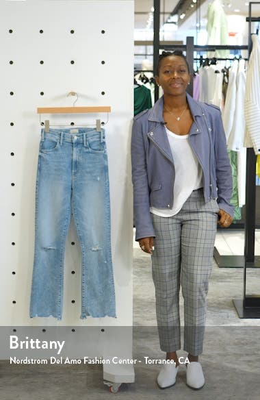 The Hustler High Waist Ripped Chew Hem Ankle Jeans, sales video thumbnail