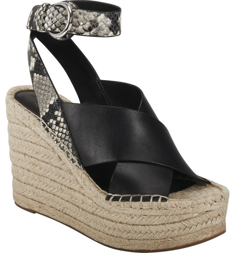 MARC FISHER LTD Abacia Wedge Sandal, Main, color, 001