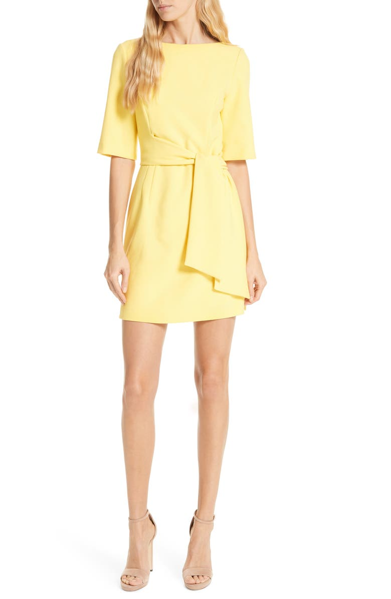 ALICE + OLIVIA Virgil Tie Waist Minidress, Main, color, 700