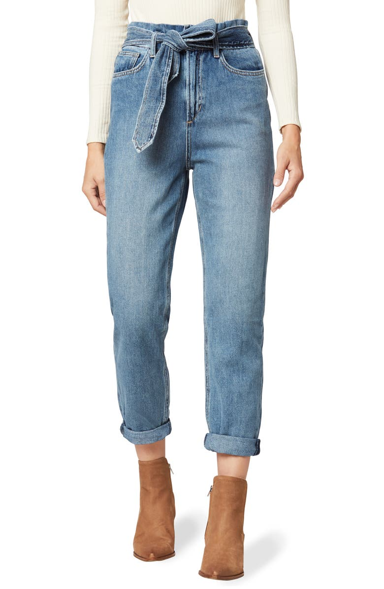 JOE'S The Brinkley Paperbag Waist Crop Straight Leg Jeans, Main, color, ALONE TOGETHER
