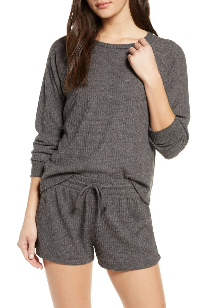 BP. Snuggle Up Thermal Short Pajamas, Main, color, 021