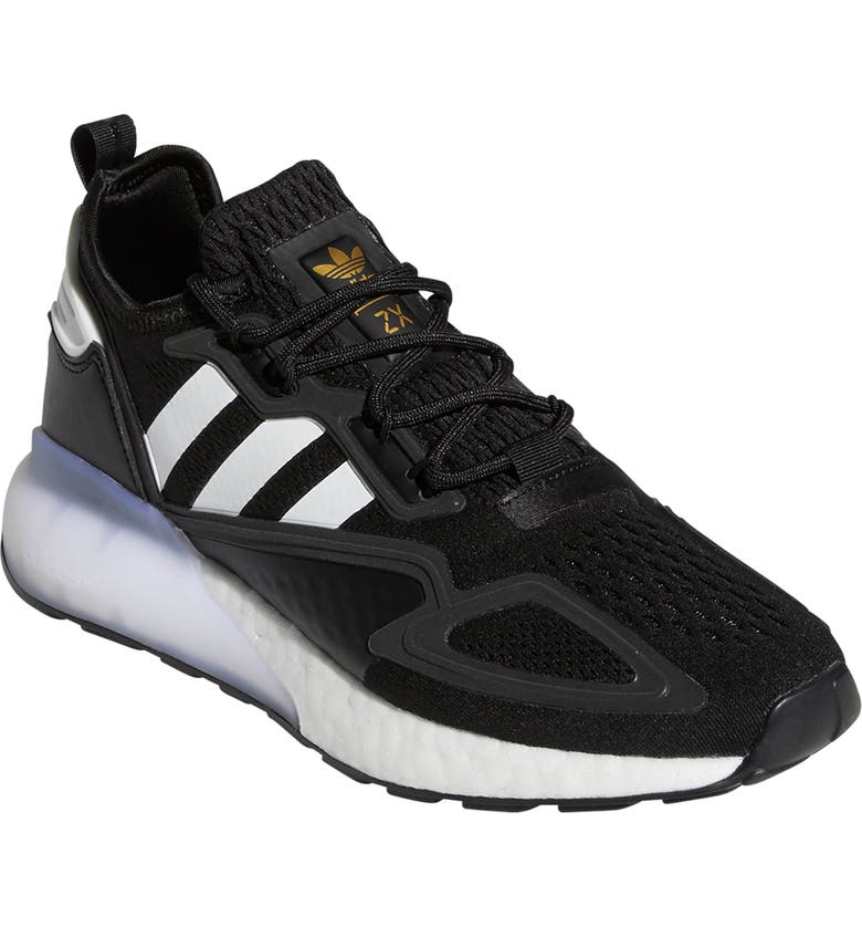 ADIDAS ZX 2K Boost Sneaker, Main, color, CORE BLACK/ WHITE/ GOLD