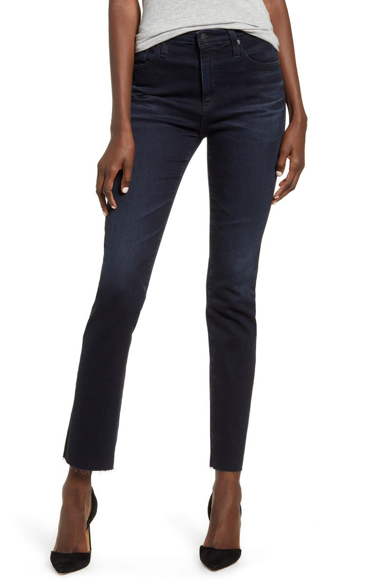 AG The Isabelle High Waist Ankle Straight Leg Jeans, Main, color, 412