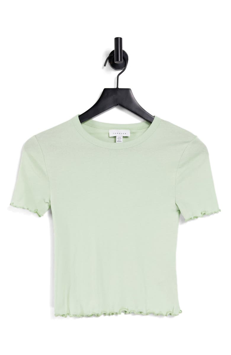 TOPSHOP Everyday Lettuce T-Shirt, Main, color, GREEN