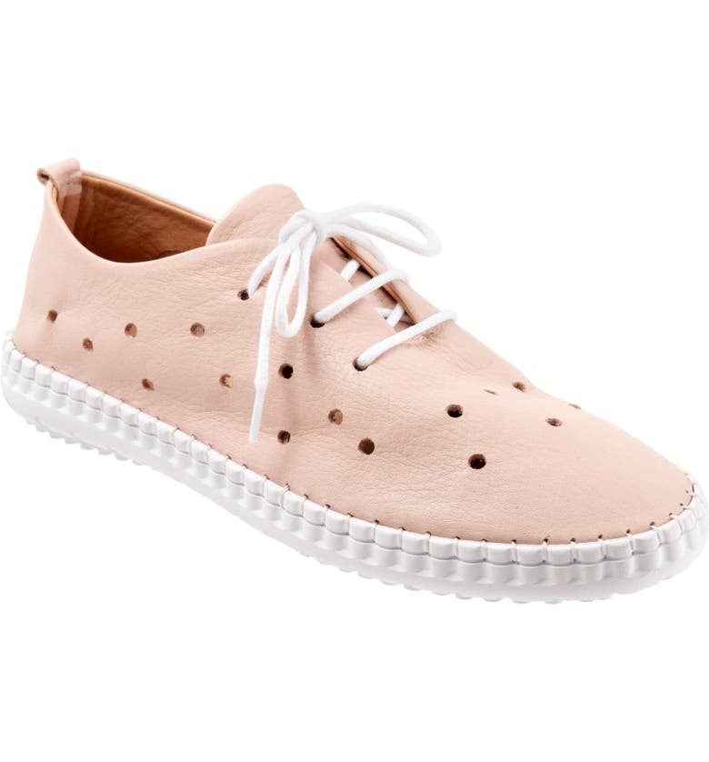 BUENO Dallas Lace-Up Oxford, Main, color, PALE PINK LEATHER
