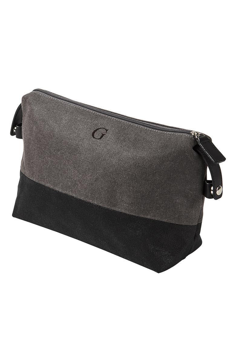 CATHY'S CONCEPTS Monogram Travel Kit, Main, color, GREY-G