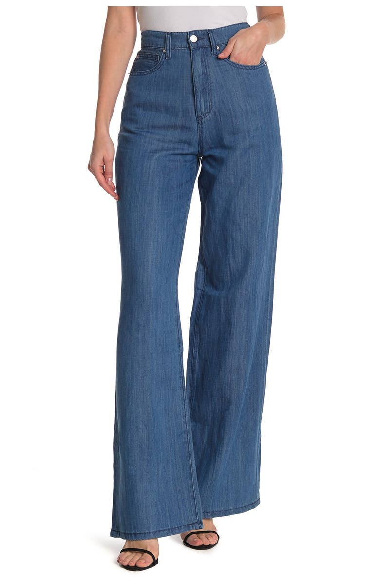 WEWOREWHAT High Rise Wide Leg Jeans, Main, color, POND