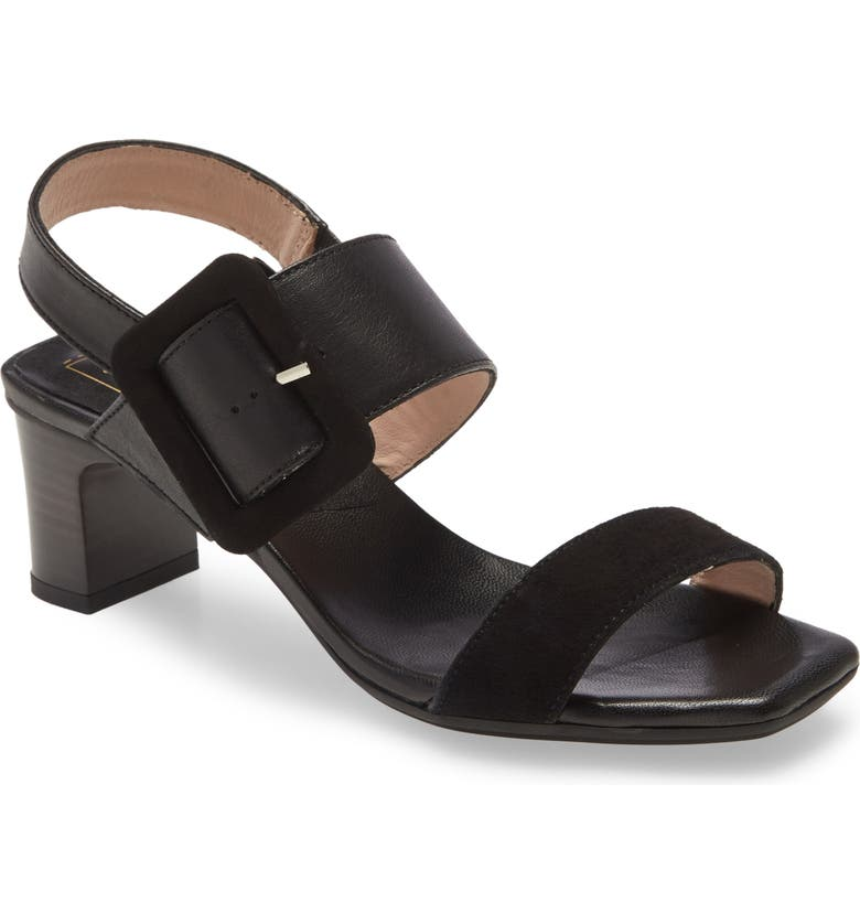 HISPANITAS Strappy Sandal, Main, color, BLACK LEATHER