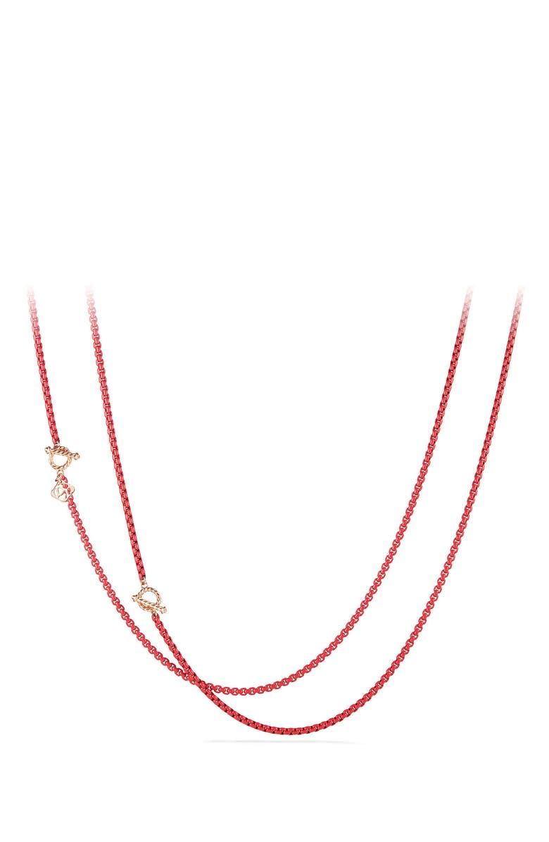 DAVID YURMAN DY Bel Aire Chain Necklace with 14K Gold Accents, Main, color, CORAL
