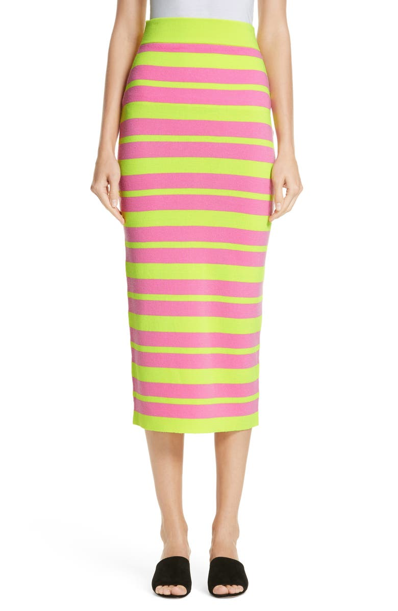 VICTOR GLEMAUD Stripe Knit Maxi Skirt, Main, color, 300