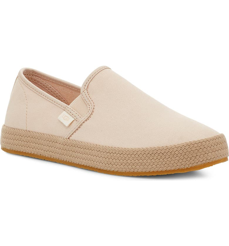 UGG<SUP>®</SUP> Bren Slip-On Sneaker, Main, color, NATURAL CANVAS