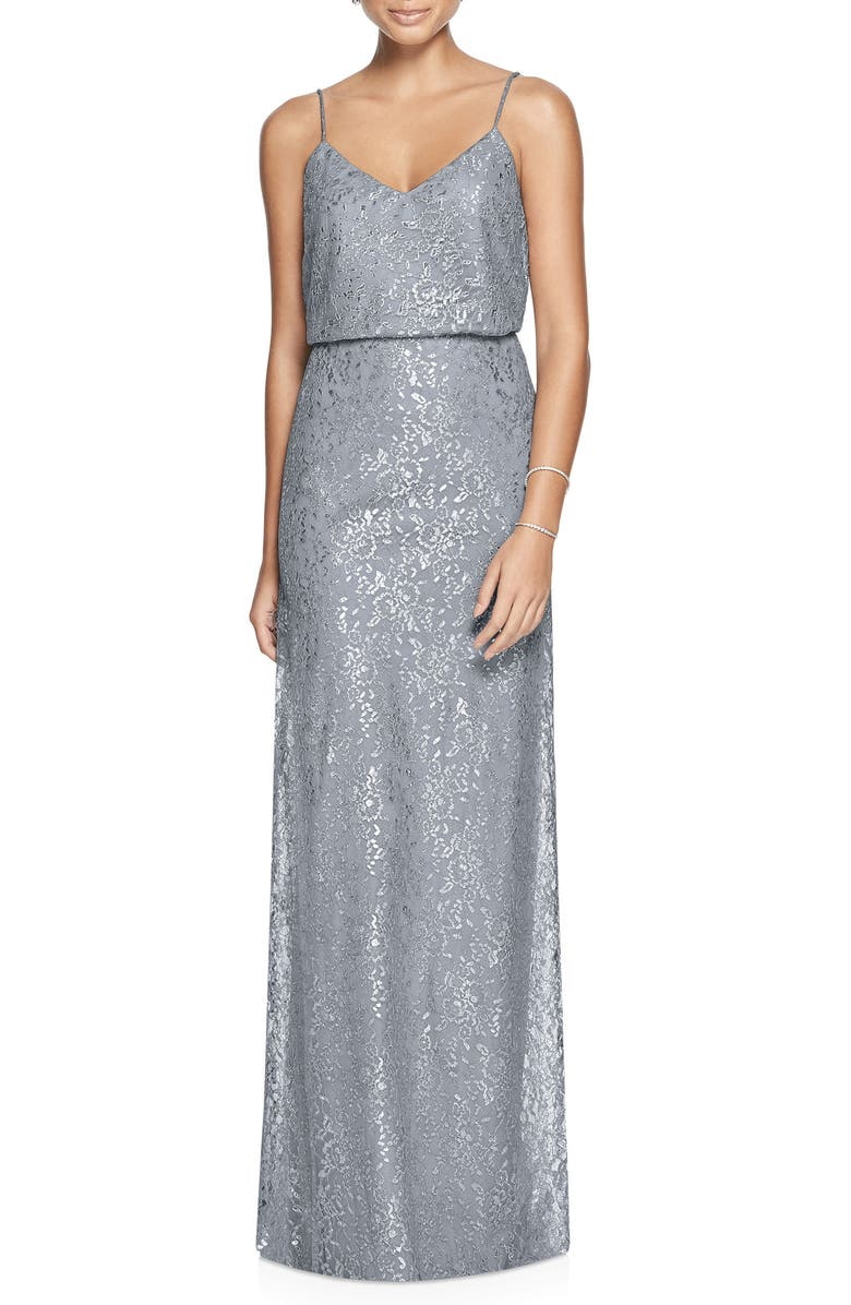 AFTER SIX Metallic Lace Two-Piece Gown, Main, color, 042