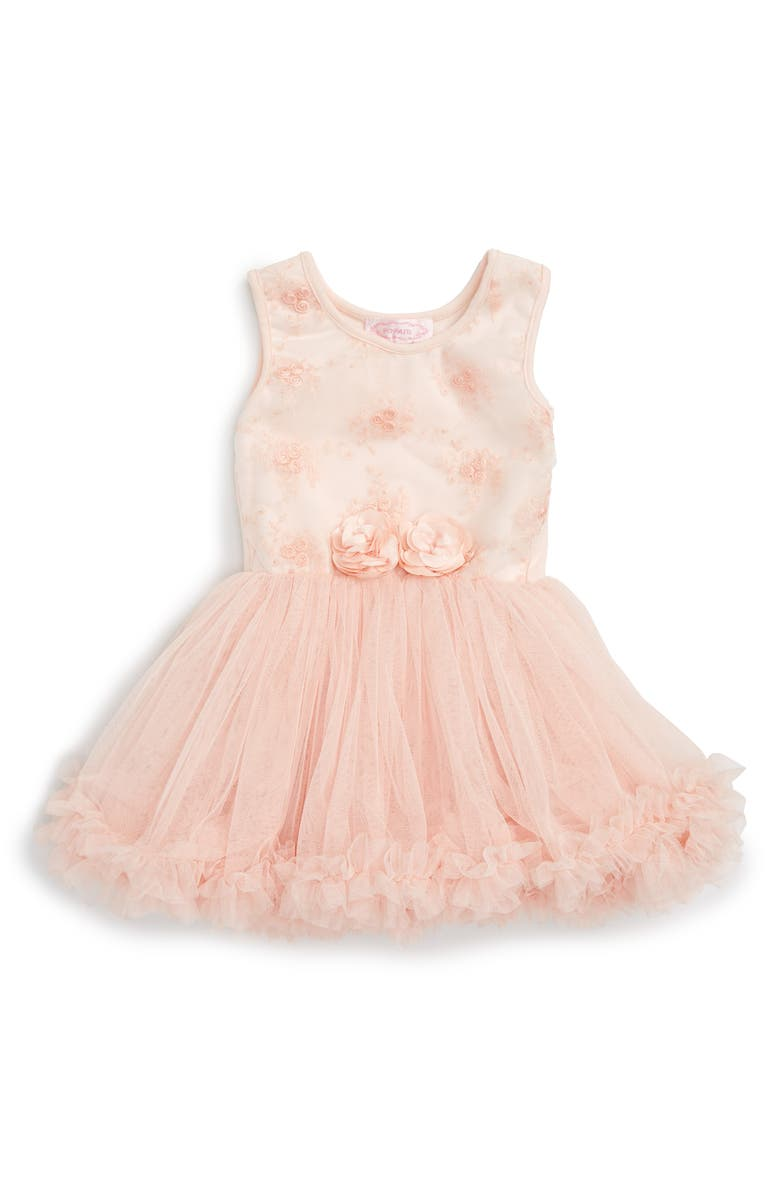POPATU Tulle Dress, Main, color, PEACH