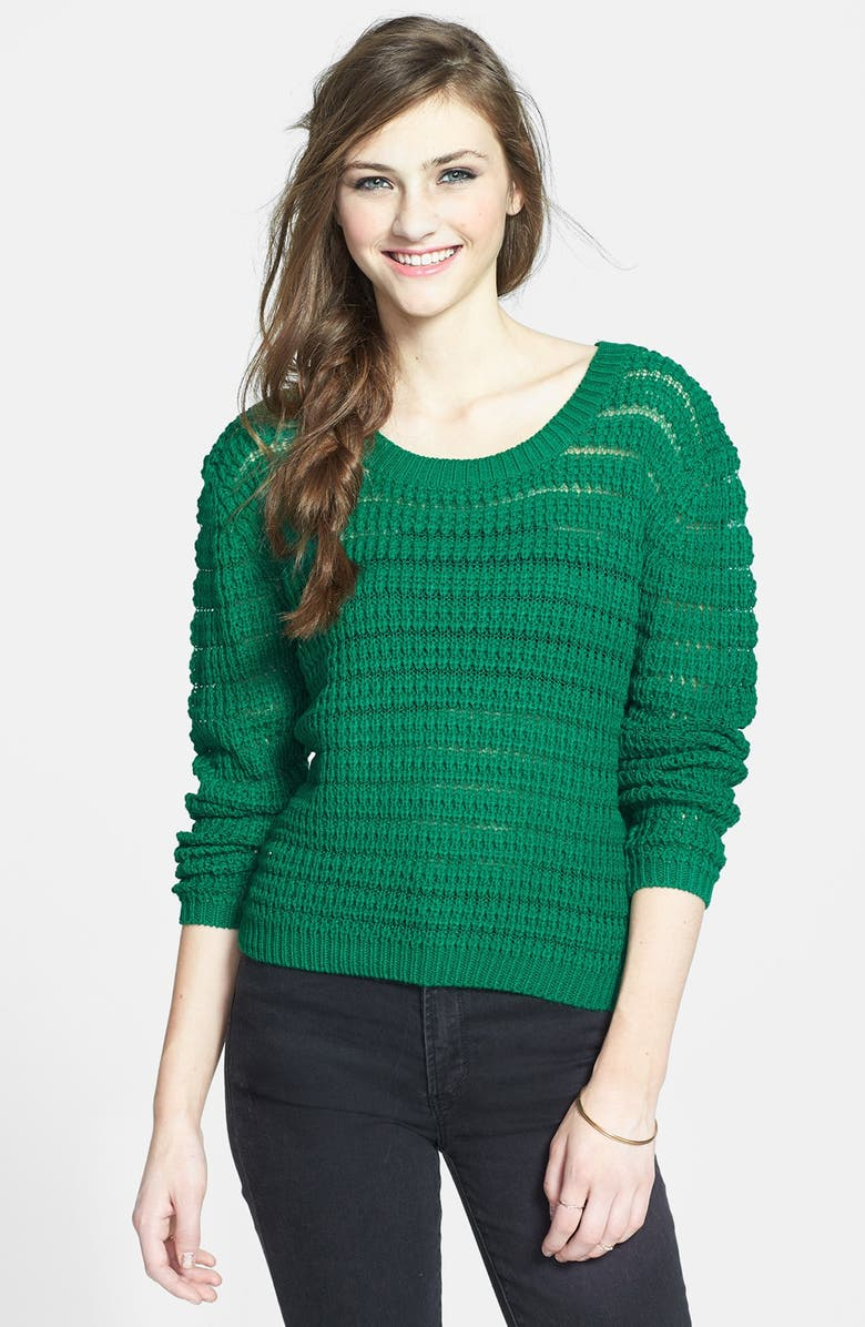 TIMING Open Knit Sweater, Main, color, 300