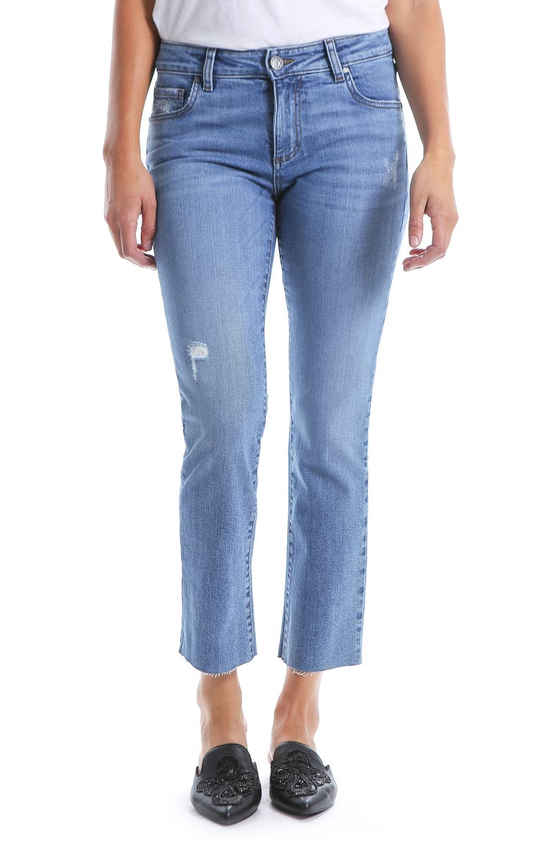 KUT FROM THE KLOTH Reese Straight Leg Ankle Jeans, Main, color, EQUILIBRIUM