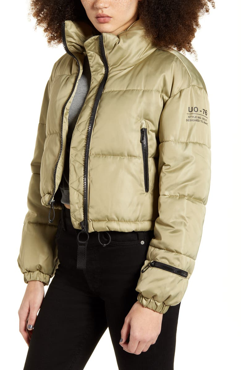 BDG URBAN OUTFITTERS Crop Puffer Jacket, Main, color, 120