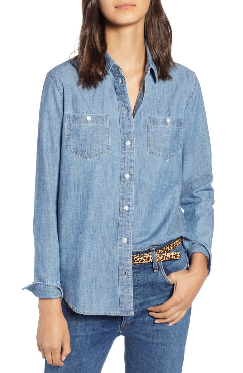 1901 Classic Chambray Shirt, Main, color, CHAMBRAY