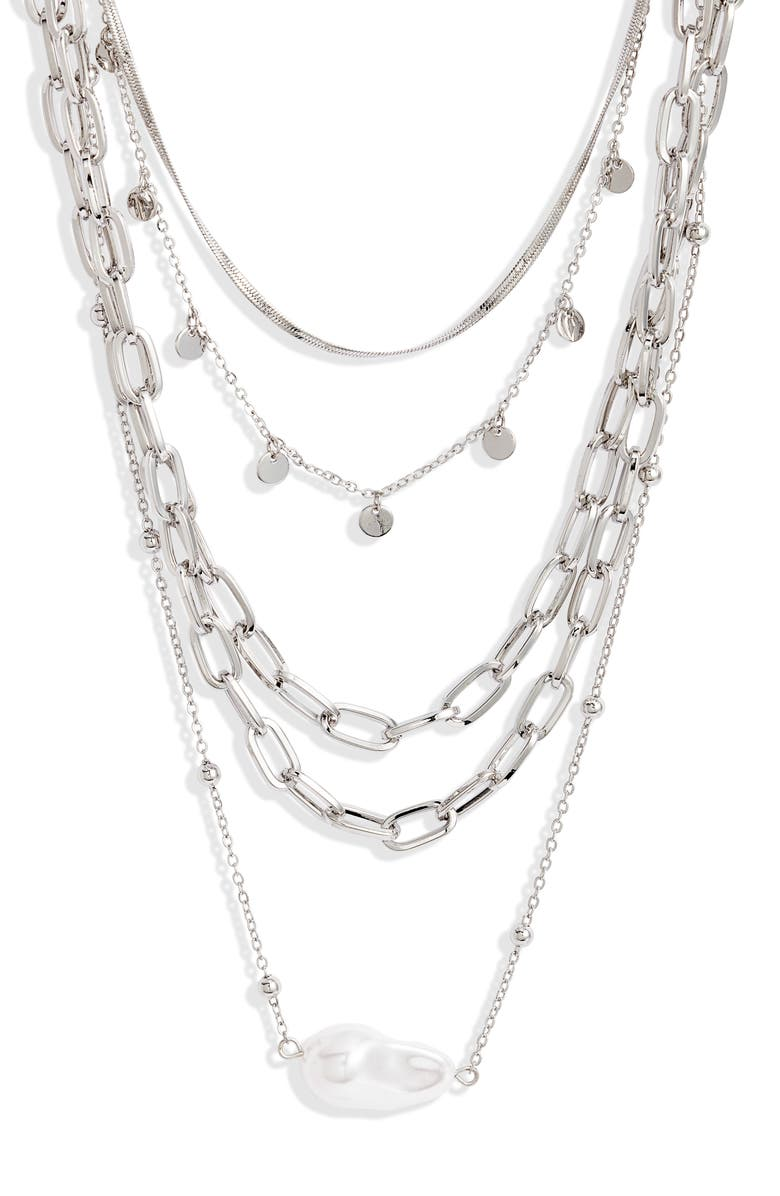 8 OTHER REASONS x Jenn Im Opus Necklaces, Main, color, SILVER