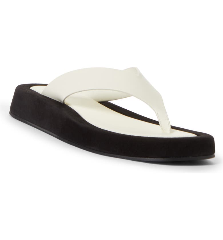 THE ROW Ginza Flip Flop, Main, color, NATURAL - BLACK