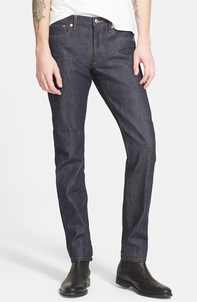 A.P.C. Petit New Standard Skinny Fit Selvedge Jeans, Main, color, INDIGO WASH
